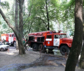 В Воронеже из-за пожара на улице Шишкова эвакуировали жильцов многоэтажки
