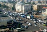 Из-за сломанного светофора центр Воронежа встал в огромной пробке