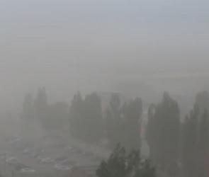 В Сети появилось видео песчаной бури в Воронеже