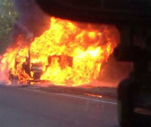 На трассе «Воронеж-Луганск» сгорел грузовик