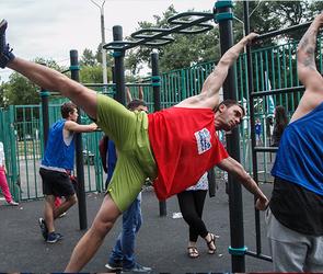 Простые воронежцы тренируются с профессиональными спортсменами