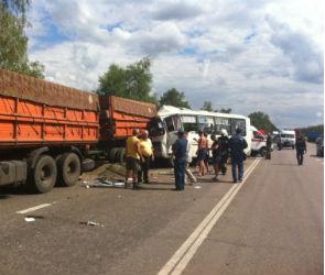 12 человек пострадали, 1 погиб в столкновении маршрутки и КАМАЗа под Воронежем