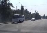 В Воронеже наглое нарушение ПАЗика попало на видео