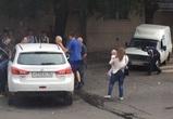 В центре Воронежа две девушки с грудным ребенком попали в ДТП