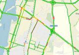 Из-за дорожных работ на левом берегу Воронежа образовалась большая пробка