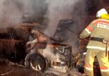 В Воронеже выясняют причины пожара, на котором дотла сгорел дорогой Порше Кайен