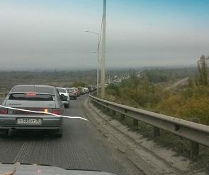 Из-за ремонта моста через реку Дон в Воронеже образовалась огромная пробка