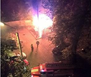 Горящий мусор в центре Воронежа напугал горожан