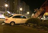 Появились фото столкновения иномарки с пирамидой у Памятника Славы в Воронеже