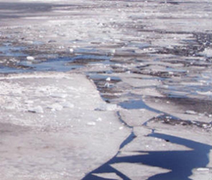 Воронежские подростки устроили опасную игру на тонком льду водохранилища
