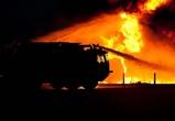 Утром в Советском районе Воронежа сгорела двухэтажная постройка