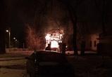 Воронежцы: На Машмете сгорело заброшенное здание ЖКО