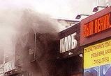 Опубликованы фото пожара в пивном ресторане на улице Невского в Воронеже