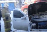 В Воронеже сгорели машины, припаркованные напротив кадетского корпуса