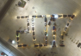 Воронежские водители устроили новогодний флешмоб, выстроив из машин число 2017