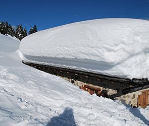 В парке под Воронежем из-за снегопада рухнула крыша популярного аттракциона