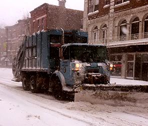 В выходные в Воронеже для уборки снега закроют несколько центральных улиц