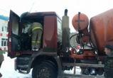 В Борисоглебске на дороге загорелась фура