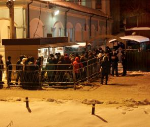 В купель на Адмиралтейской площади окунулось больше всего воронежцев
