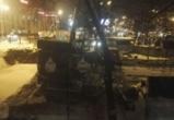 Воронежский застройщик не убрал технику из сквера, вырубленного под кафе