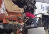 В сети появилось видео с места ДТП с семью пострадавшими под Воронежем
