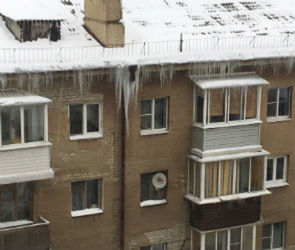 В Воронеже на женщину с коляской упала ледяная глыба
