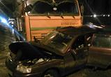 Опубликованы фото столкновения ВАЗа с бетономешалкой в Воронеже, погиб водитель