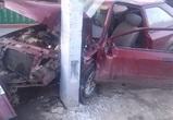 В Воронеже пьяный автомобилист «припарковался» в столб