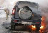 В Воронеже у парка «Динамо» загорелась машина