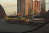 Появилось видео серьезной аварии на Ломоносова в Воронеже