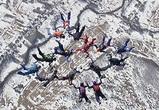 Установление нового рекорда воронежскими парашютистками попало на видео