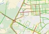 Из-за реконструкции развязки на 9 Января пробки в Воронеже достигли 8 баллов
