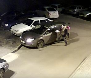 Автовор, разбивший булыжником машину воронежца, попал на видео