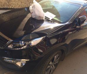 В Воронеже машины автохамов превратили в свалку мусора