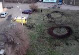 В Воронеже сотрудники детской больницы устроили дрифт на реанимобилях
