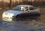 Потоп на улице Землячки в Воронеже попал на видео