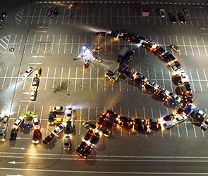 Появились фото и видео Первомайского автофлешмоба с военной техникой в Воронеже