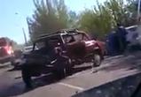 Появилось видео массового ДТП на Острогожской в Воронеже, есть пострадавшие