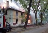 В Воронеже снова полыхал расселенный ветхий дом