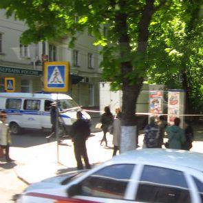 В центре Воронежа совершена попытка ограбления банка