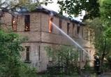 Появилось видео пожара в очередном расселенном доме на Ленинградской
