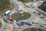 Власти пообещали ужесточить график ремонта развязки на улице 9 Января