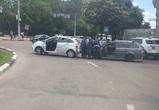 Из-за ДТП в центре Воронежа образовалась большая пробка