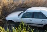 В Воронежской области иномарка вылетела в пруд