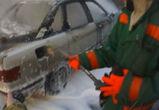 В Советском районе Воронежа рано утром сгорела иномарка