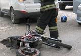 Появились фото ДТП с мотоциклом и Хендай в Воронеже: серьезно ранен байкер