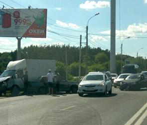 Очевидцы: в Воронеже на Остужева столкнулись 5 машин, пострадал ребенок
