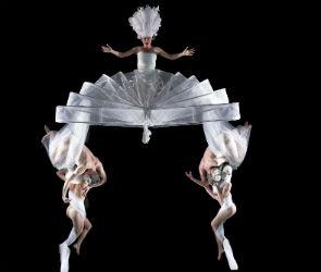 В Воронеже впервые на сцене театра оперы и балета выступили летающие танцовщики