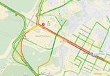 Из-за дорожных работ на улице 9 Января образовалась огромная пробка