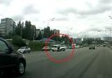Воронежцы сняли на видео, как «четверка» сбивает женщину на пешеходном переходе